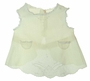 """<img src=""""https://p11.secure.hostingprod.com/@grammies-attic.com/ssl/images/blue-sold-1.gif""""> Heirloom Pale Yellow Diaper Shirt with Lace Insertion and Back Belt"""