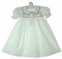 "<img src=""https://p11.secure.hostingprod.com/@grammies-attic.com/ssl/images/blue-sold-1.gif"">  NEW White Hand Smocked Gown with Red Heart Embroidery"