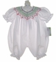 "<img src=""https://p11.secure.hostingprod.com/@grammies-attic.com/ssl/images/blue-sold-1.gif""> NEW Rosalina White Bubble with Red and Green Smocking"