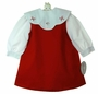 "<img src=""https://p11.secure.hostingprod.com/@grammies-attic.com/ssl/images/blue-sold-1.gif""> NEW Rosalina Red Reversible Jumper and Blouse Set with Removable Holiday Collar"