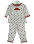 NEW Bailey Boys White Pajamas with Red Dots and Santa Applique