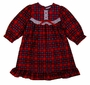 "<img src=""http://site.grammies-attic.com/images/blue-sold-1.gif""> NEW Red Plaid Nightgown with White Eyelet Trim for Baby, Toddler, and Little Girls"
