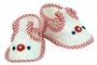 NEW White Baby Shoes with Red Striped Trim