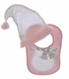 NEW Pink Snowman Bib and Hat Set