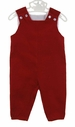 NEW Bailey Boys Red Pinwale Corduroy Monogrammable Longall