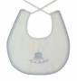 "<img src=""https://p11.secure.hostingprod.com/@grammies-attic.com/ssl/images/blue-sold-1.gif""> NEW Lavender Blue White Linen First Birthday Bib with Blue Checked Trim"