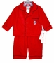 "<img src=""https://p11.secure.hostingprod.com/@grammies-attic.com/ssl/images/blue-sold-1.gif""> NEW Red Flannel Pajamas with Plaid Piping and Snowman Applique"