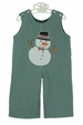 NEW Rosalina Green Checked Longall with Snowman Applique
