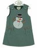 NEW Rosalina Green Checked Jumper with Snowman Applique