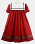 "<img src=""https://p11.secure.hostingprod.com/@grammies-attic.com/ssl/images/blue-sold-1.gif"">NEW Victorian Heirlooms Red Float Dress with Red Plaid Trimmed Portrait Collar"