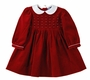 "<img src=""https://p11.secure.hostingprod.com/@grammies-attic.com/ssl/images/blue-sold-1.gif""> NEW Carriage Boutiques Red Velvet Long Sleeved Dress with Seed Pearls"