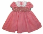 "<img src=""https://p11.secure.hostingprod.com/@grammies-attic.com/ssl/images/blue-sold-1.gif""> NEW Will'Beth Red Checked Smocked Dress with White Embroidered Collar"