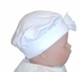 "<img src=""https://p11.secure.hostingprod.com/@grammies-attic.com/ssl/images/blue-sold-1.gif""> NEW White Cotton Knit Beret with White Satin Bow"