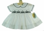 NEW Carriage Boutiques White Cotton Pique Smocked Sailor Dress with Sailboat Embroidery