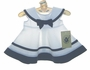 """<img src=""""https://p11.secure.hostingprod.com/@grammies-attic.com/ssl/images/blue-sold-1.gif""""> NEW Good Lad White Sleeveless Sailor Dress with Navy Trimmed Collar and Matching Beret"""