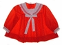 Vintage 1950s Cinderella Red Dotted Sailor Dress