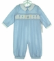 "<img src=""https://p11.secure.hostingprod.com/@grammies-attic.com/ssl/images/blue-sold-1.gif""> NEW Royal Child Blue Checked Smocked Birthday Romper"