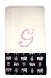 "<img src=""https://p11.secure.hostingprod.com/@grammies-attic.com/ssl/images/blue-sold-1.gif""> NEW Custom Monogrammed Baby Burp Cloth with Pink Elephant Fabric Trim"