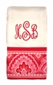 "<img src=""https://p11.secure.hostingprod.com/@grammies-attic.com/ssl/images/blue-sold-1.gif""> NEW Custom Monogrammed Baby Burp Cloth with Nantucket Red Fabric Trim"