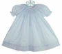 NEW Petit Ami Pale Blue Bishop Smocked Daygown
