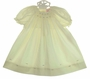 NEW Petit Ami Yellow Bishop Smocked Daygown