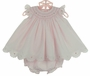 "<img src=""https://p11.secure.hostingprod.com/@grammies-attic.com/ssl/images/blue-sold-1.gif""> NEW Sarah Louise Pink Smocked Pinafore Style Dress with Pink and White Embroidery and Matching Diaper Cover"