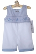 NEW Royal Child White Smocked Shortall with Light Blue Anchor Embroidery