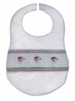 "<img src=""https://p11.secure.hostingprod.com/@grammies-attic.com/ssl/images/blue-sold-1.gif"">  Rosalina White Smocked Bib with Santa Embroidery"