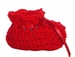 """<img src=""""http://site.grammies-attic.com/images/blue-sold-1.gif""""> NEW Red Custom Crocheted Baby Booties"""