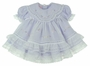 NEW Will'Beth Lavender Baby Dress with Lace, Ribbons, Embroidery, and Seed Pearls