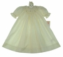 """<img src=""""https://p11.secure.hostingprod.com/@grammies-attic.com/ssl/images/blue-sold-1.gif"""">  NEW Petit Ami Pale Yellow Bishop Smocked Gown"""