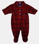 """<img src=""""http://site.grammies-attic.com/images/blue-sold-1.gif""""> NEW Red Plaid Footed Pajamas for Baby Boys"""