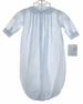 NEW Petit Ami Pale Blue Baby Gown with Pintucks and Embroidery and Matching Embroidered Hat