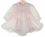 "<img src=""https://p11.secure.hostingprod.com/@grammies-attic.com/ssl/images/blue-sold-1.gif""> NEW Sarah Louise Pink Smocked Dress with Rosebuds and Ribbon Insertion and Matching Diaper Cover"