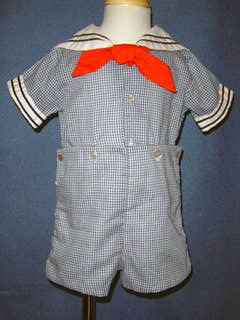 "<img src=""https://p11.secure.hostingprod.com/@grammies-attic.com/ssl/images/blue-sold-1.gif""> Boy's C. I. Castro Navy Checked Button On Sailor Suit"