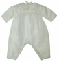 NEW Gordon and Company Pearl White Silk Romper with Long Pants