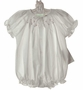 NEW Bailey Babies White Smocked Bubble with Embroidered Pink Rosebuds