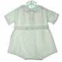 """<img src=""""https://p11.secure.hostingprod.com/@grammies-attic.com/ssl/images/blue-sold-1.gif""""> Heirloom 1930s White Romper with Embroidered Ducks"""