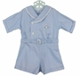 """<img src=""""https://p11.secure.hostingprod.com/@grammies-attic.com/ssl/images/blue-sold-1.gif""""> Vintage 1930s Blue Button On Shorts Set with Bunny Embroidery"""