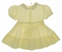 """<img src=""""https://p11.secure.hostingprod.com/@grammies-attic.com/ssl/images/blue-sold-1.gif"""">  Heirloom 1950s Yellow Voile Flowered Dress with Pintucks and Lace Insertion"""