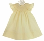 "<img src=""https://p11.secure.hostingprod.com/@grammies-attic.com/ssl/images/blue-sold-1.gif""> NEW Le' Za Me Butter Yellow Bishop Smocked Angel Sleeved Dress with Embroidered Rosebuds"