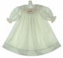 "<img src=""https://p11.secure.hostingprod.com/@grammies-attic.com/ssl/images/blue-sold-1.gif""> NEW Will'Beth Ivory Bishop Smocked Long Sleeved Dress with Rose Embroidered Flowers"