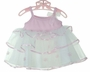 NEW Rare Editions Pink and White Tutu with Organdy Flower Trim