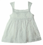 NEW Cotton Kids White Embroidered Eyelet Sundress with Crocheted Trim