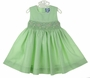 "<img src=""https://p11.secure.hostingprod.com/@grammies-attic.com/ssl/images/blue-sold-1.gif""> NEW Carriage Boutiques Green Smocked Dress with Embroidered Pastel Flowers"