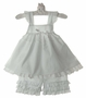 NEW White Ruffled Pantaloon Set with Eyelet Trim