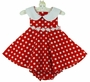 NEW Rare Editions Shirley Temple Style Red Polka Dot Dress