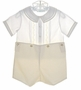 "<img src=""https://p11.secure.hostingprod.com/@grammies-attic.com/ssl/images/blue-sold-1.gif""> NEW Feltman Brothers Pale Yellow Button on Shorts Set with Pintucks and Embroidery"