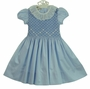 "<img src=""https://p11.secure.hostingprod.com/@grammies-attic.com/ssl/images/blue-sold-1.gif""> NEW Marco & Lizzy Blue Smocked Dress with Ruffled Lace Collar for Toddlers and Little Girls"