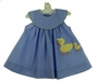 NEW Bailey Boys Royal Checked Dress with Appliqued Ducks